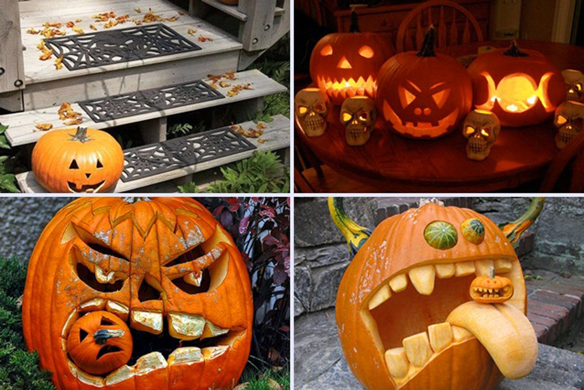 My new blog by kia pegg - Extraordinary accessories for halloween decoration with pumpkin eating another pumpkin carving ...