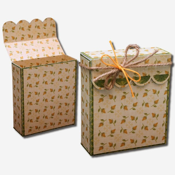 Bits of paper flap over decorative gift boxes