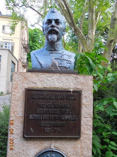 Statuia lui Alexandru Ioan Cuza in Heidelberg