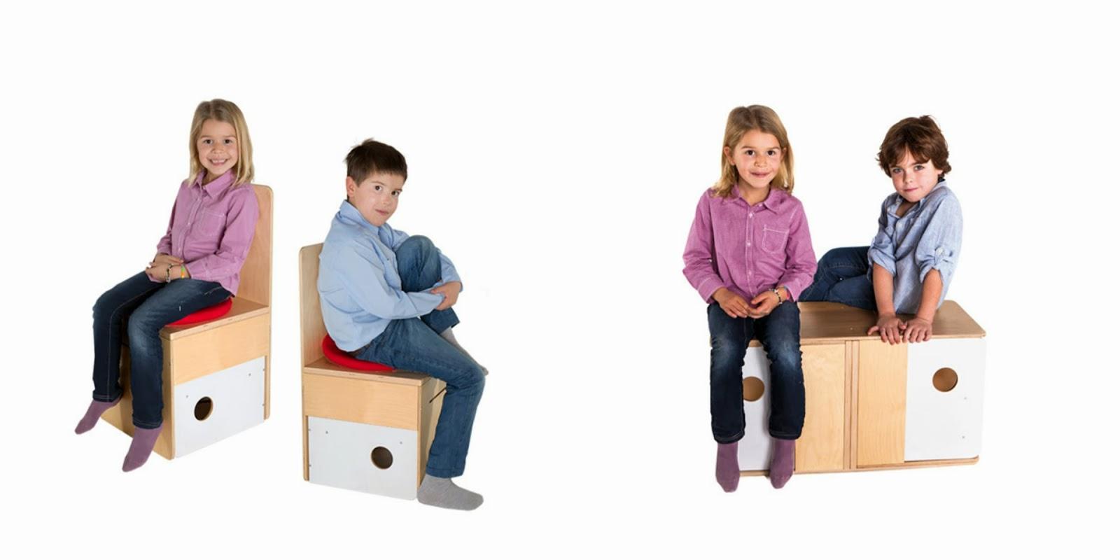 Nuun kids designs los muebles m s molones para los ni os for Silla que se convierte en mesa