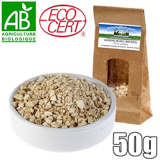 50gr de ginseng blanc bio