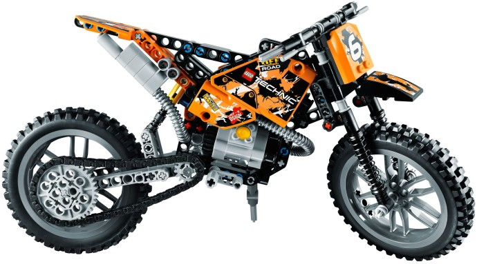 lego technic motorcycles new 2013 moto cross bike 42007. Black Bedroom Furniture Sets. Home Design Ideas