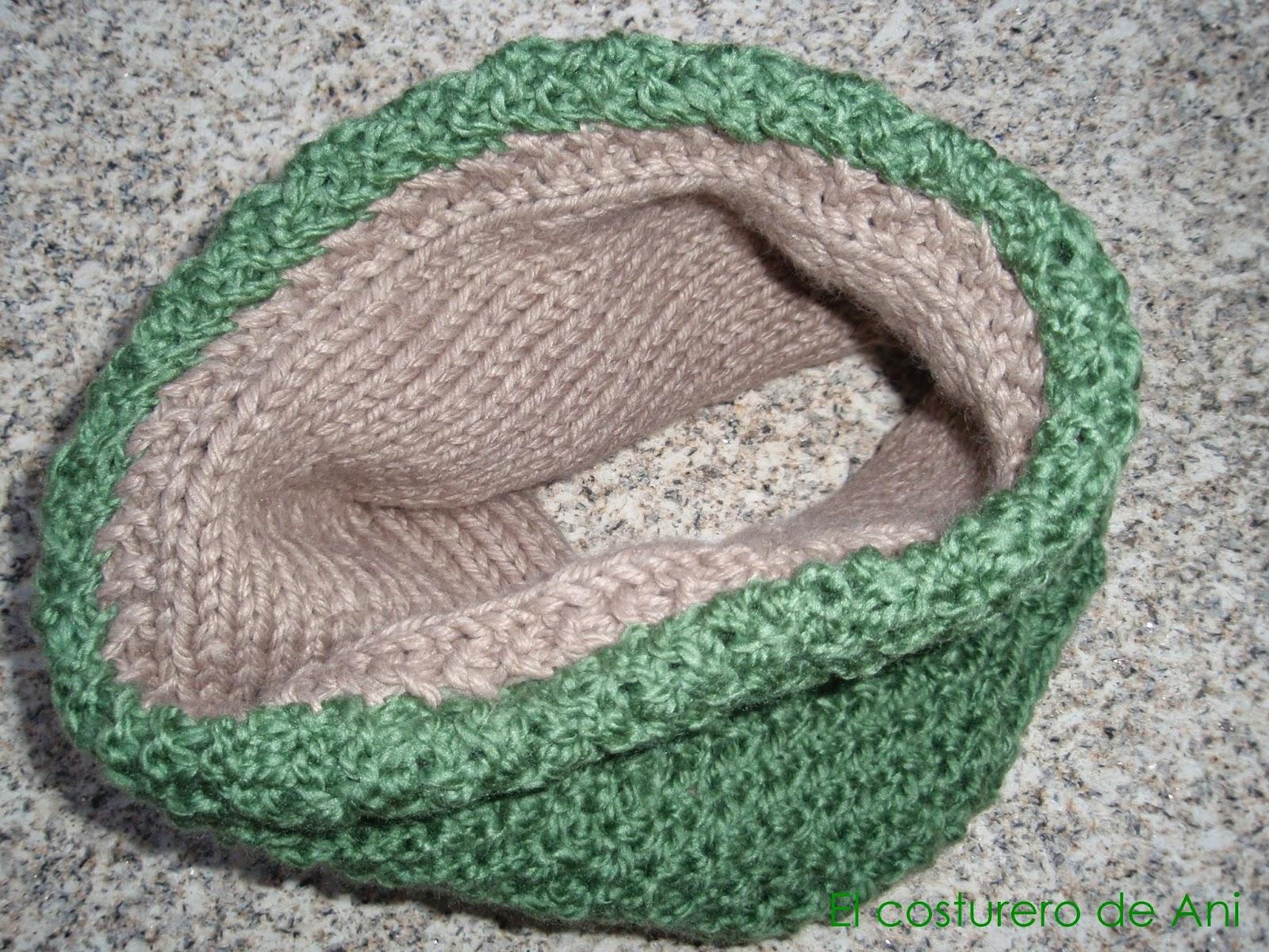 El costurero de ani tutorial cuello reversible de lana - Reciclar restos de lana ...