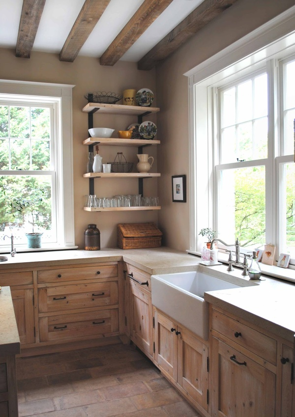 Natural modern interiors country kitchen design ideas for Country farm kitchen ideas