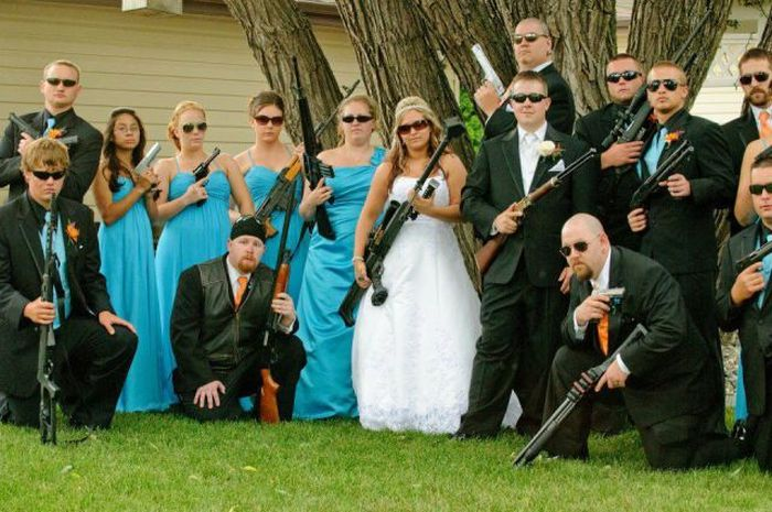Selection Of Funny Wedding Moments