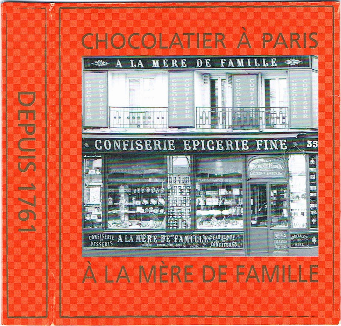 French chocolate bar label from Paris