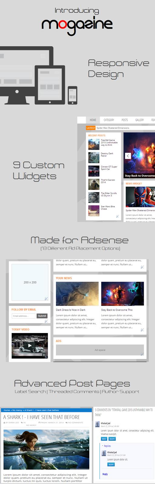 Mogazine Blogger Template - Template quá đẹp cho trang tin tức