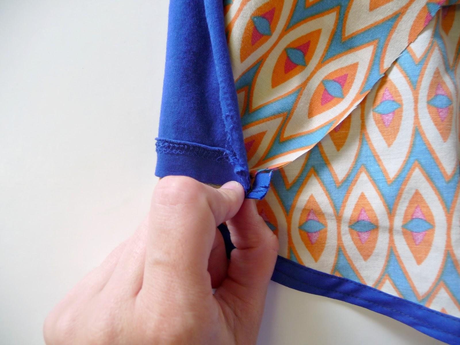 DIY anthropologie pattern pop tee knock off sewing tutorial