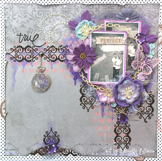 Scrapbook Page by Gabrielle Pollacco using Bo Bunny Penny Emporium