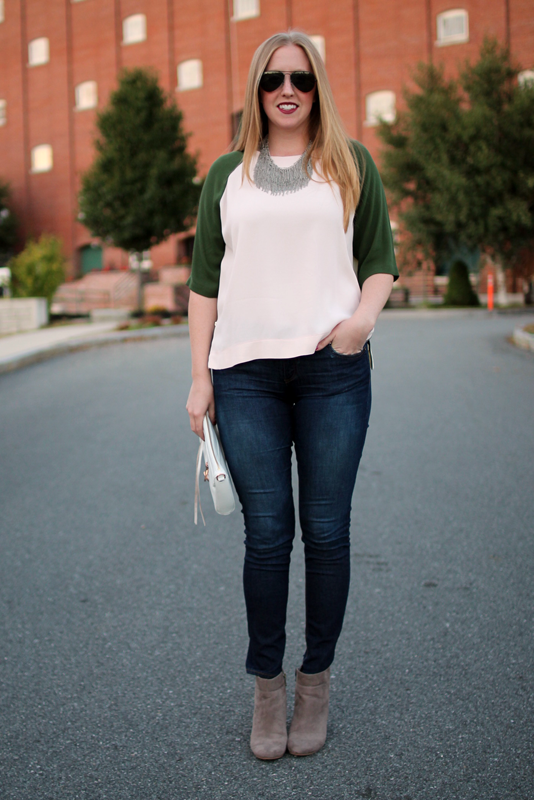 topshop color-block tunic, Boston bloggers, boston fashion blog, boston style blog, boston blog, style blog, colorblock