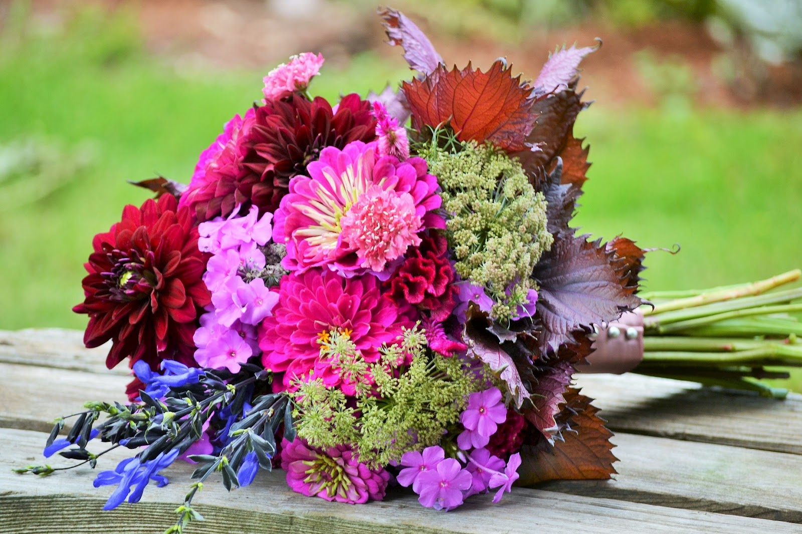 Wedding Flowers from Springwell: Perilla Adds Rich Dark Notes to ...