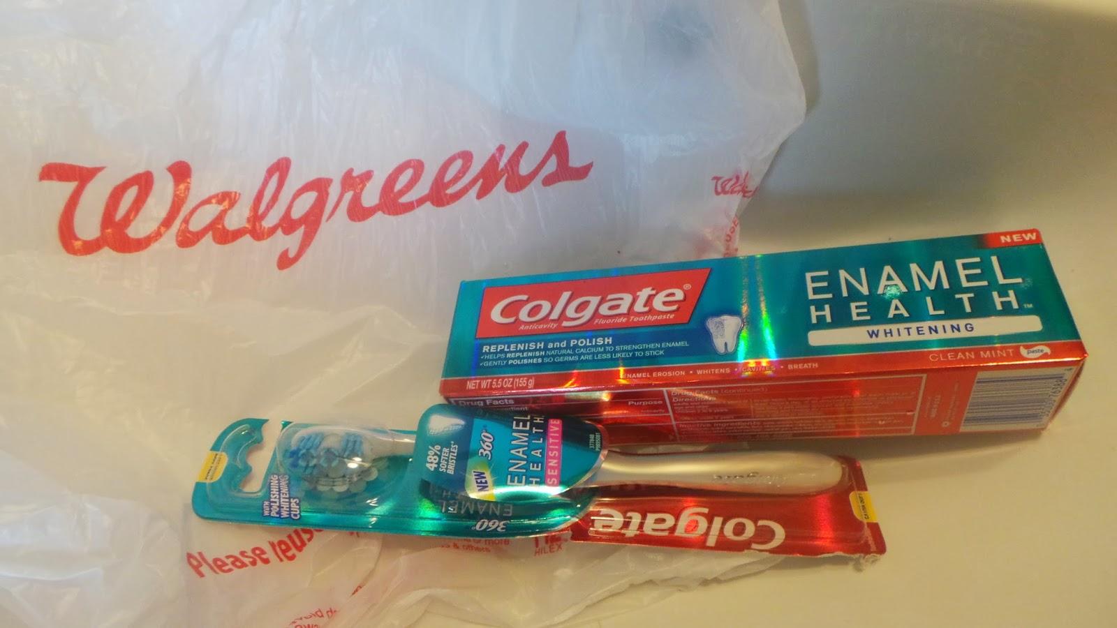 walgreens saturdate colgate enamel health toothpaste #colgateenamelhealth