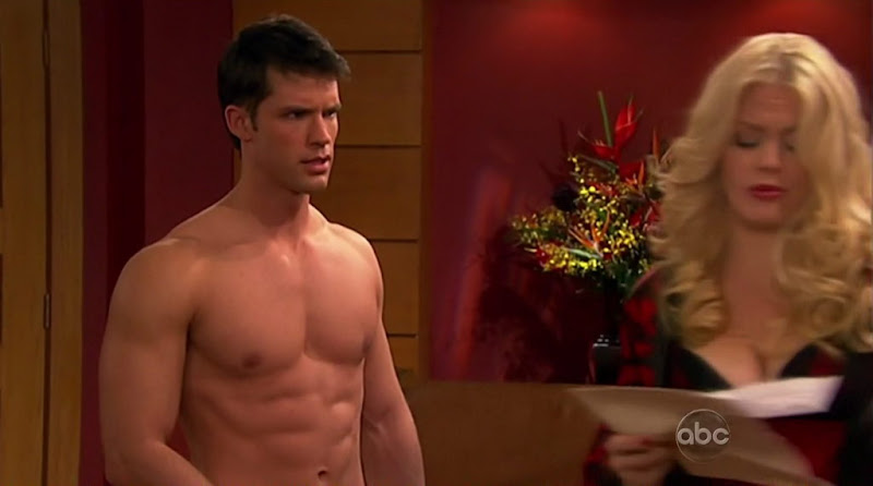 David A. Gregory is shirtless on One Life To Live.