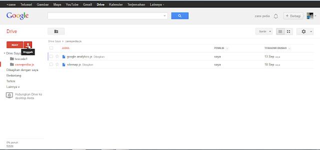 Unggah Google Drive