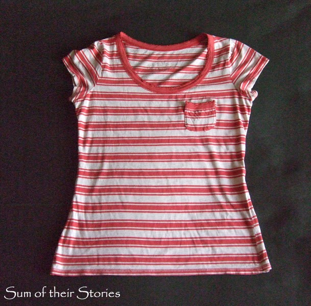 Stripe and Floral T Shirt Refashion