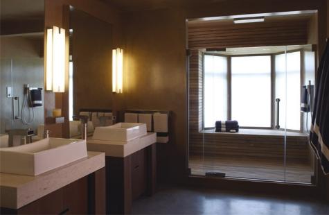 Gabinetes de bamb o madera para el ba o decorando for Revestimiento sintetico para banos
