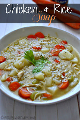 Chicken & Rice Soup Stovetop or Slow Cooker #Recipe