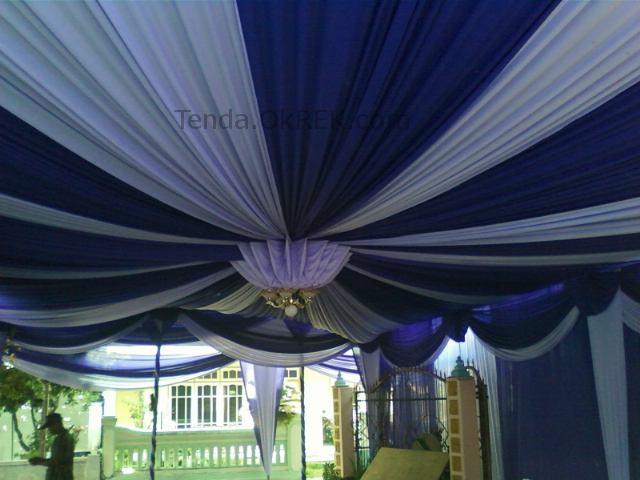 ... dekorasi plafon tenda pesta pernikahan untuk VIP, tetap murah di Tenda