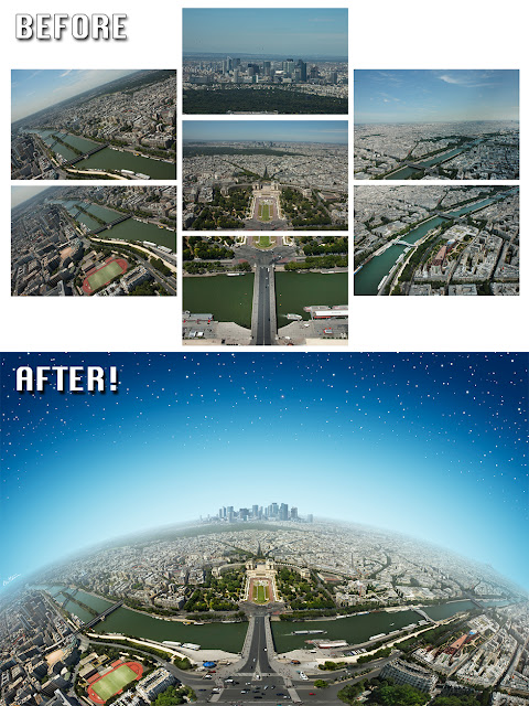 Before-After - Planet Paris - Artwork by Ben Heine