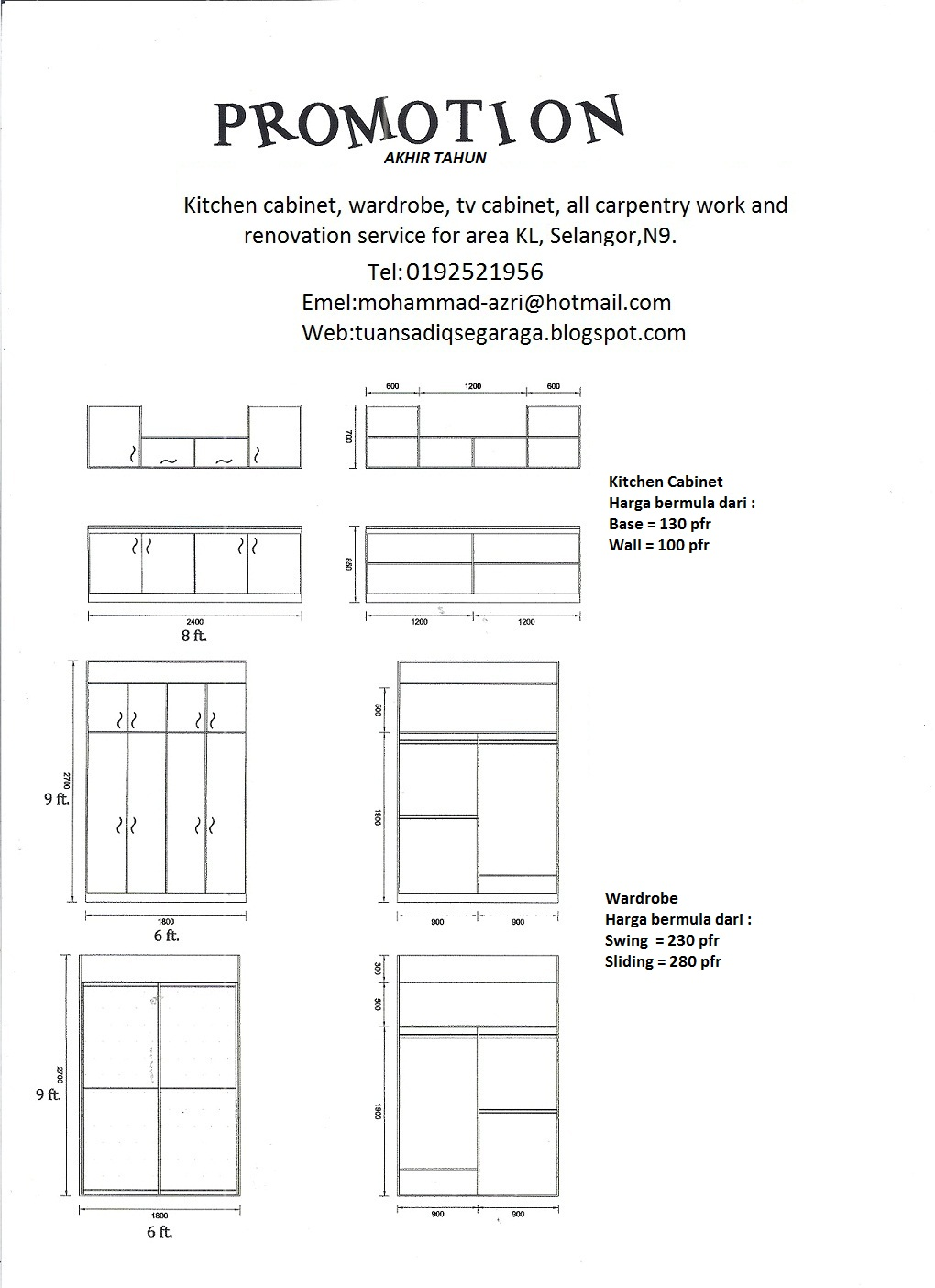 Promotion - Kitchen cabinet and renovation services