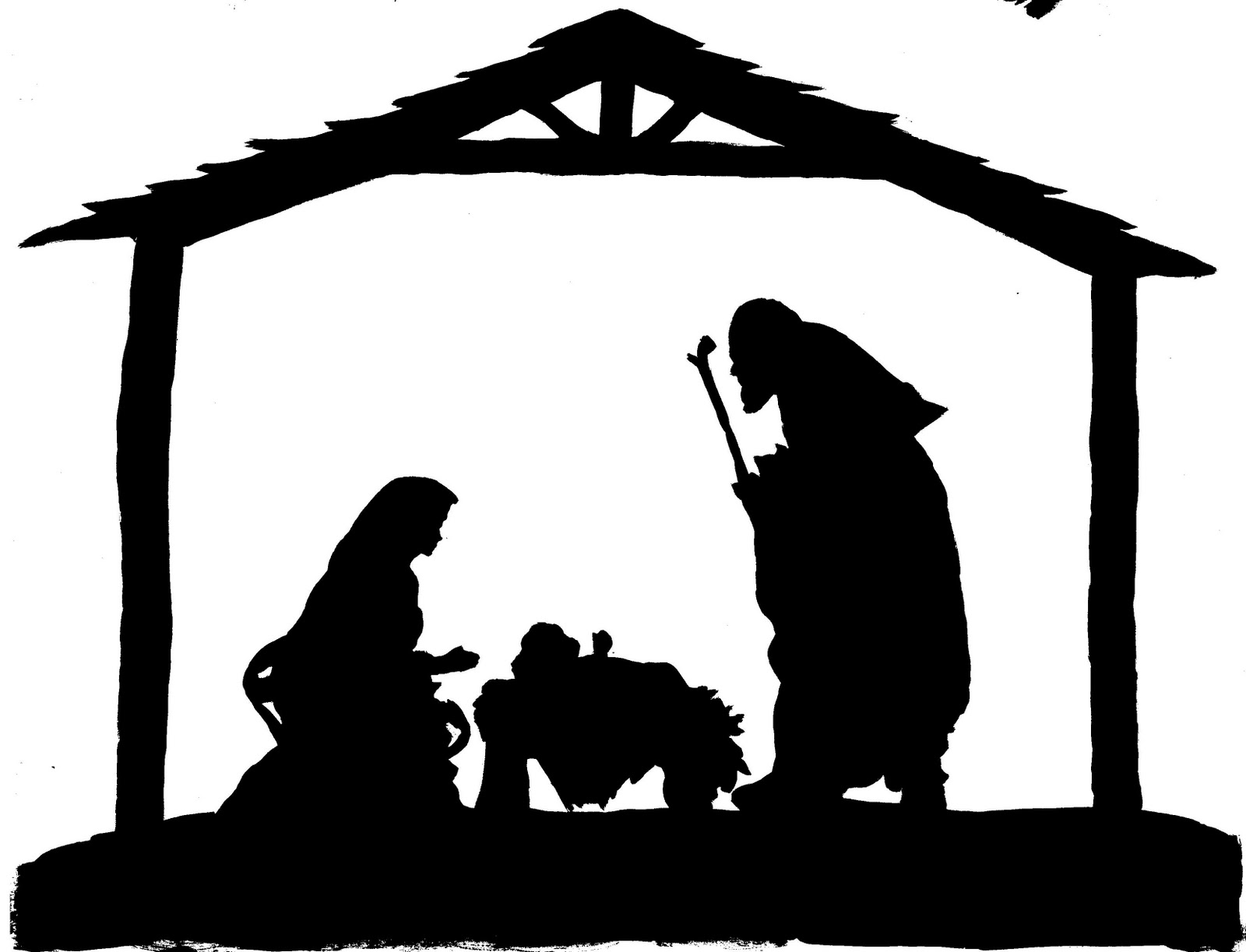Displaying 18> Images For - Nativity Silhouette Template...