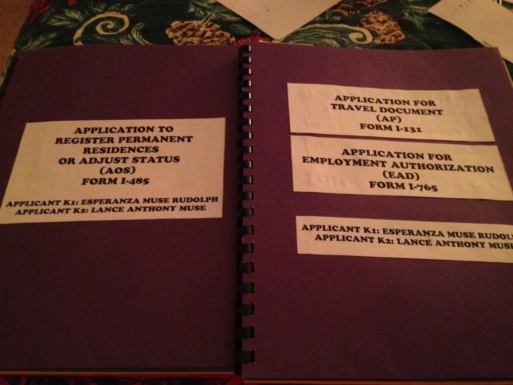 My journey k1k2 adjustment of statusaos i 485 advance parole have you wonder how my file will look like falaconquin