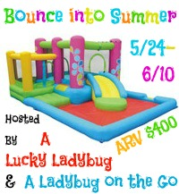 Enter to win Playhouse Bouncers Little Sprout All-in-One Bouncer, Slide, and Pool, ARV $400, Ends 6/10