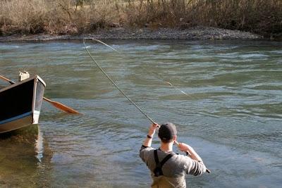 Northwest centerpin for Kalama river fishing