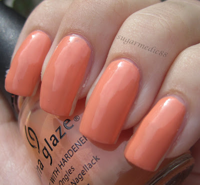 China Glaze Peachy Keen Swatch