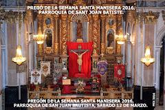 12.03.16 PREGÓN DE LA SEMA- NA SANTA MANISERA DE 2016.