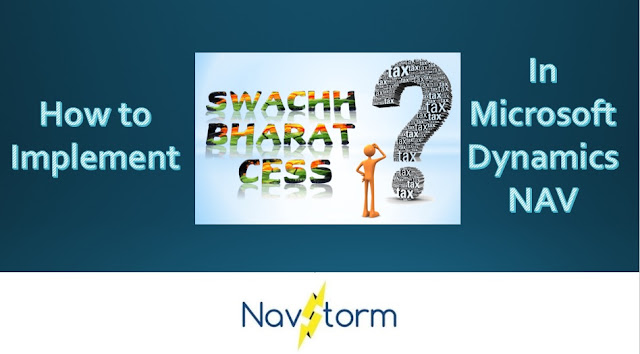 implement swachh bharat cess service tax setup microsoft dynamics nav