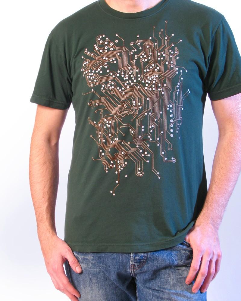 Circuito Eletronica : Baú da eletrônica: camiseta com estampa de placa de circuito impresso