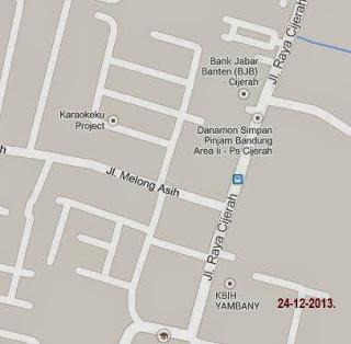 peta lokasi gaun pengantin adat bandung