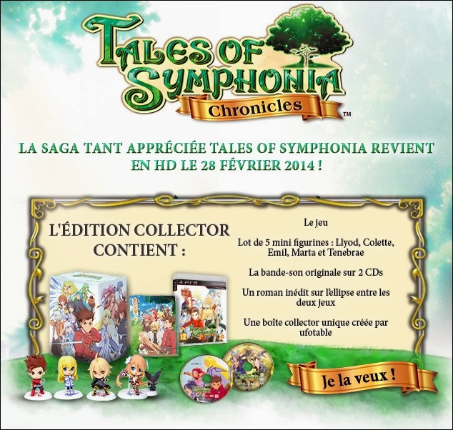 Tales of Symphonia Chronicles, Namco Bandai, Tales of Symphonia, Tales of Symphonia : Dawn of the New World, Playstation 3, Actu Jeux Video, Jeux Vidéo,