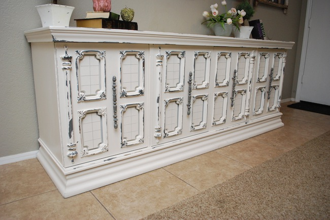 White And Grey Distressed Buffet (fave Projects Repost)