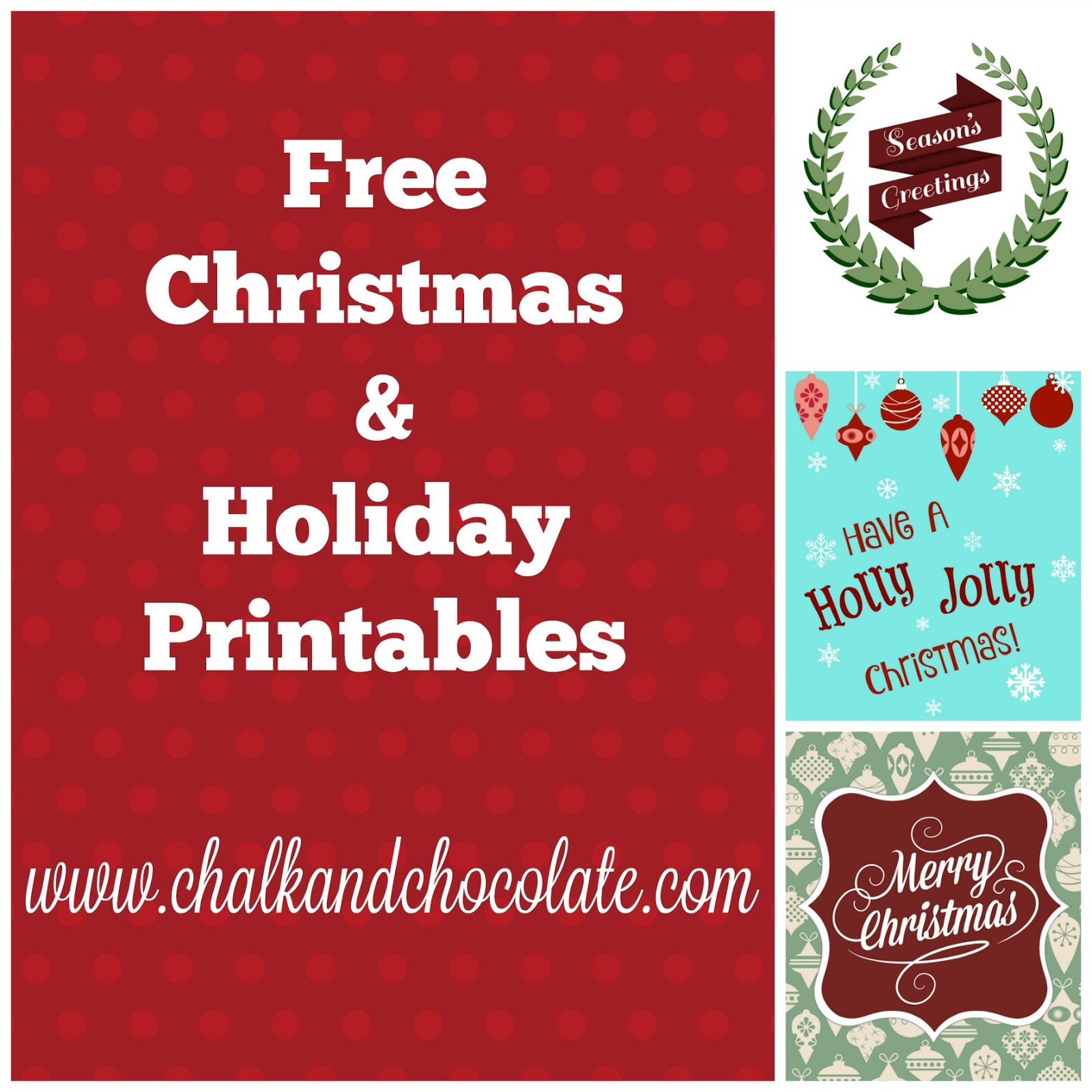 i fiddled with making some holiday printables this weekend and thought i would share click on the links under each picture to download and print - Free Holiday Printables