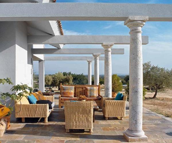 Terra antiqva pergolas de columnas de marmol con piedra for Azulejos en zaragoza