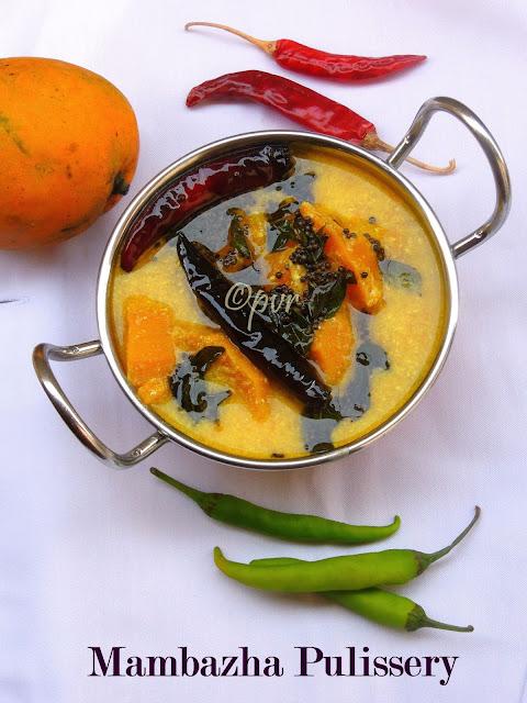 Kerala Mambazha pulissery, ripen mango in spiced yogurt gravy