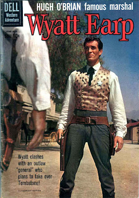 Wyatt Earp v2 #11 - dell western 1960s silver age comic book cover art