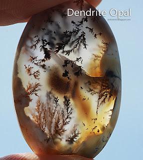 Batu permata Dendrite Opal merlinite
