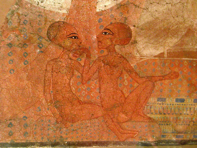 The aten sequence books what happened to the three for Ancient egyptian mural paintings
