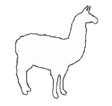 Llama Coloring Pages for Kids