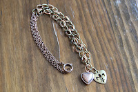 Hearts of Metal Charm Necklace by hotGlued