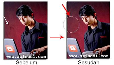 cara memunculkan tanda bulat pada brush photoshop