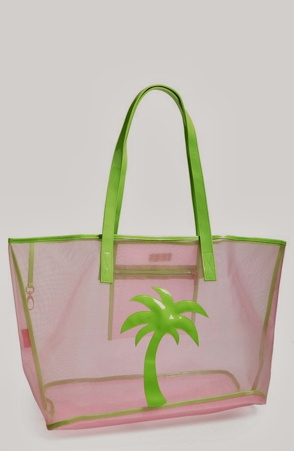 Lolo Madison mesh palm tree tote