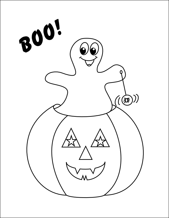 coloring pages pumpkins and ghosts - photo#7