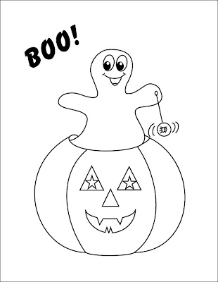 Ghost Pumpkin Coloring Page