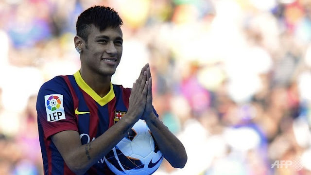 Neymar presentation at camp nou stadium in barcelona on june 3 2013