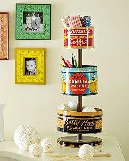 reuse vintage tin boxes