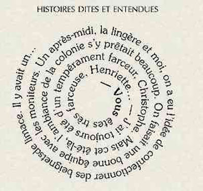 Fig.1: Caligrama en espiral de Guillaume Apollinaire